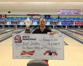 2013 KFYR TV Bowling Classic Champion - Matt Smallin